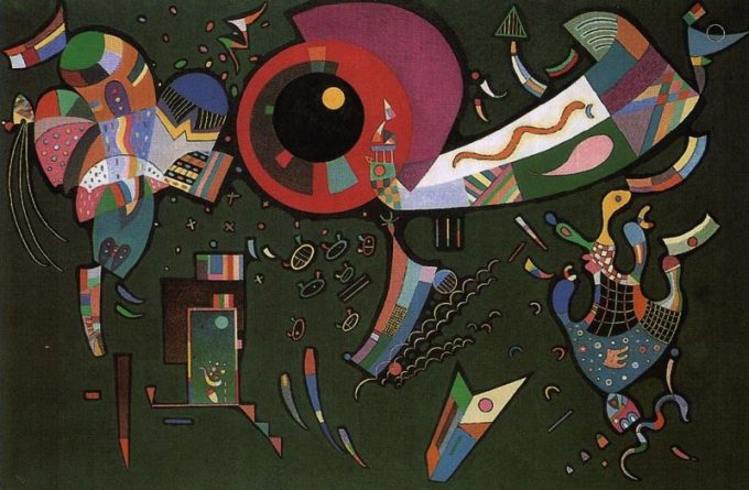 Wassily Kandinsky, Around the circle, 1940
