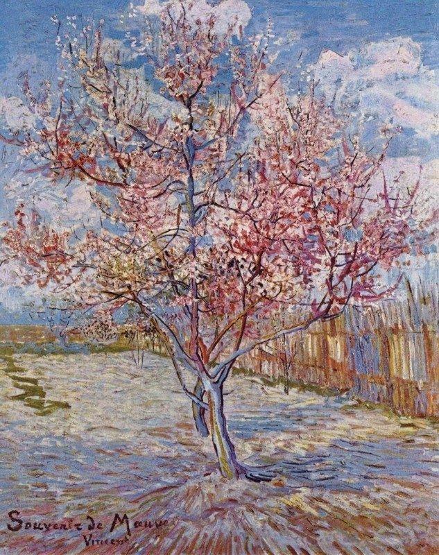 Vincent van Gogh, De roze perzikboom (Souvenir de Mauve), 1888