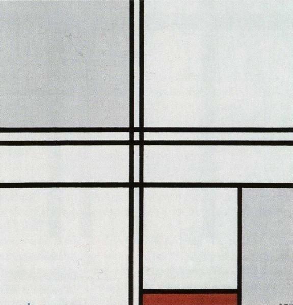 Piet Mondriaan, Compositie met rood en grijs