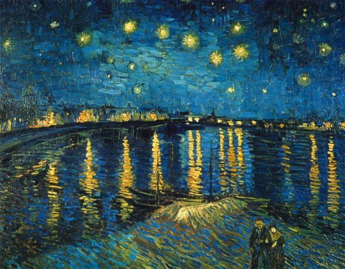 Vincent van Gogh, Sterrennacht boven de Rhone, 1888