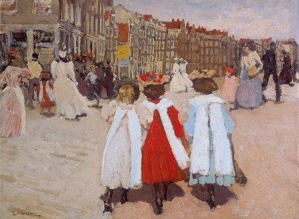 George Hendrik Breitner, Drie schoolmeisjes, ca. 1885