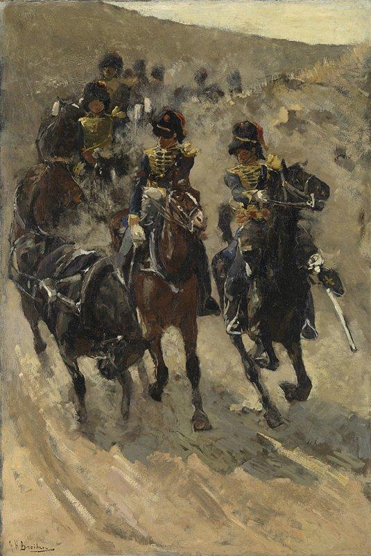 George Hendrik Breitner, De gele rijders, 1885 - 1886