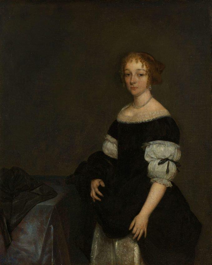 Aletta Pancras (1649-1707). Echtgenote van François de Vicq, Gerard ter Borch (II), 1670