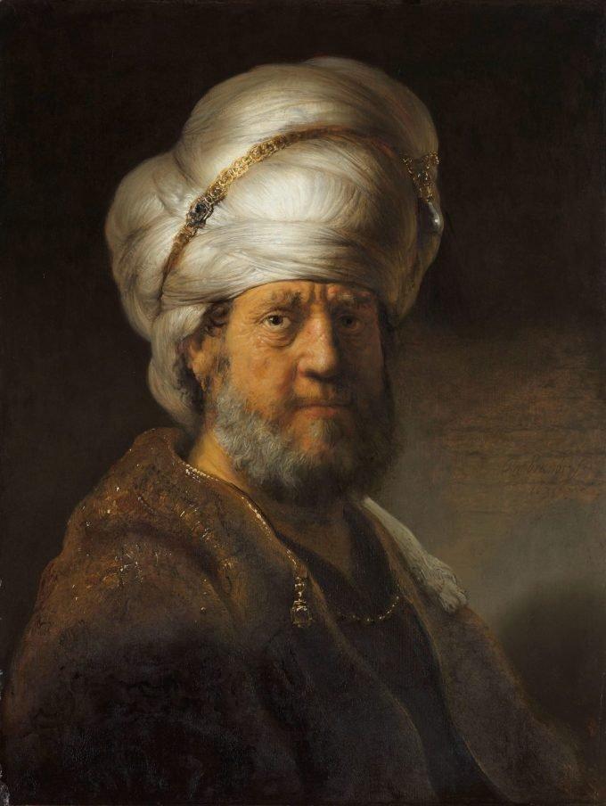 Man in oosterse kleding, Rembrandt van Rijn, 1635
