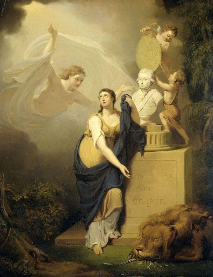 Allegorie op de dood van Willem V, prins van Oranje, 1806, Jan Willem Pieneman, 1806