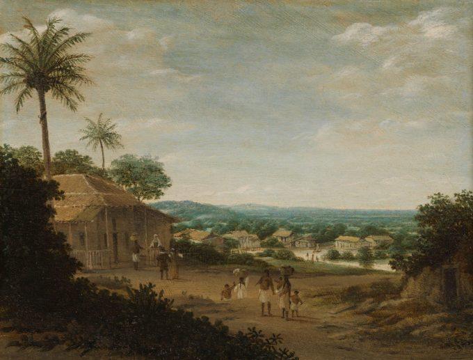 Braziliaans dorp, Frans Jansz. Post, 1675 - 1680