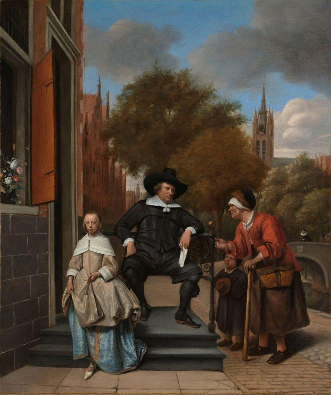Adolf en Catharina Croeser, bekend als 'De burgemeester van Delft en zijn dochter', Jan Havicksz. Steen, 1655