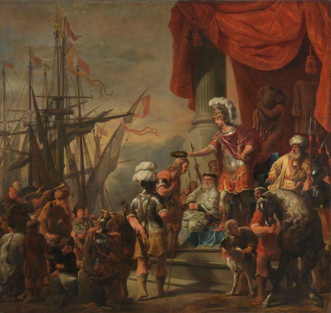Aeneas bij Latinus, Ferdinand Bol, ca. 1661 - ca. 1664
