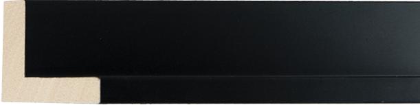 Museum mat zwart, 10x39x28mm (breedte x hoogte x diepte)