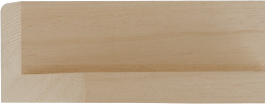 Baklijst blank hout, 17x44x30 (breedte x hoogte x diepte)