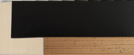 Baklijst zwart goud, 17x44x30 (breedte x hoogte x diepte)
