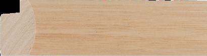 Blanke lijst flauwbol ramin, 30x20mm (breedte x hoogte)