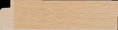 Blanke lijst plat ramin, 30x14mm (breedte x hoogte)