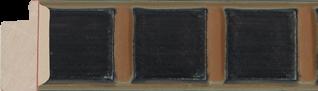 Ornamentlijst bruin/groen chocolaatje 29x16mm (breedte x hoogte)