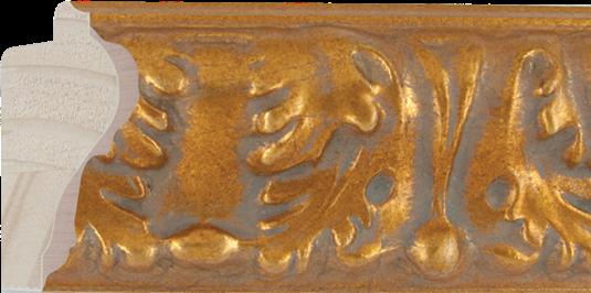 Ornamentlijst goud, 71x37mm (breedte x hoogte)