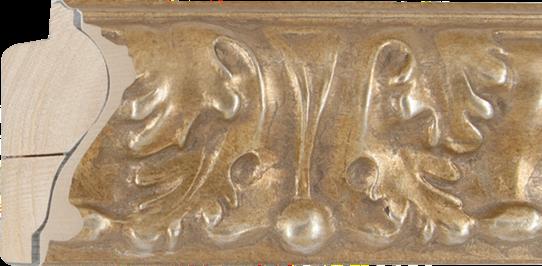 Ornamentlijst zilver, 71x37mm (breedte x hoogte)