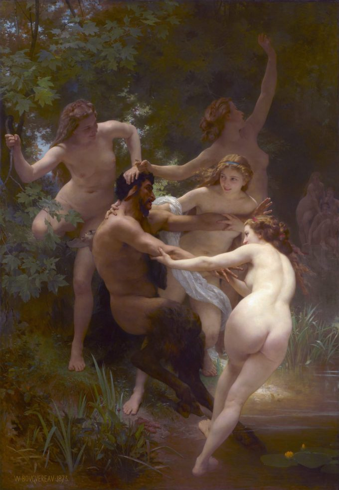 William-Adolphe Bouguereau, Nimfen en een sater, 1873