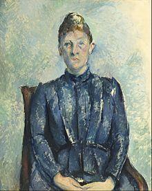 Paul Cézanne, portret van Madame Cézanne, 1862