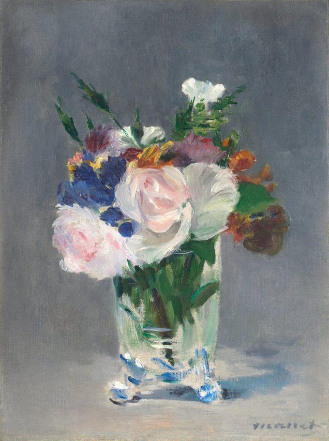 Edouard Manet, Bloemen in een kristallen vaas, 1882
