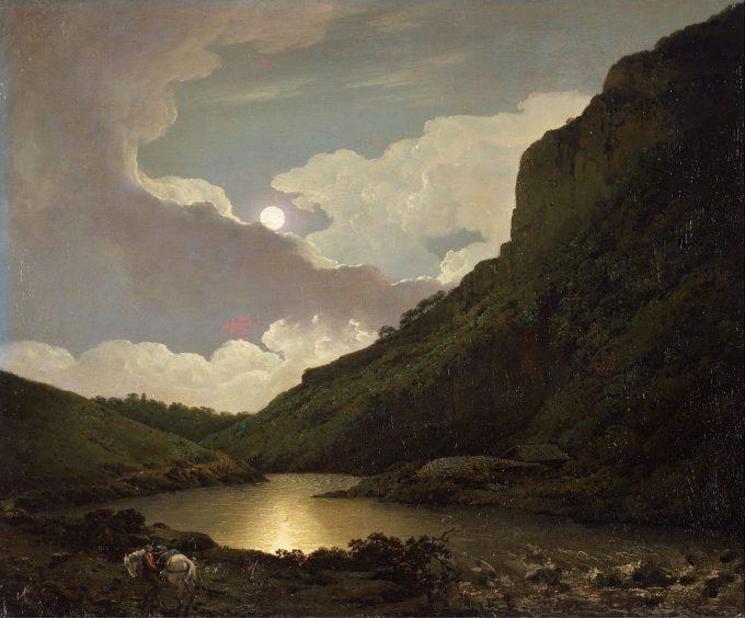 Joseph Wright of Derby, Matlock toren bij maanlicht, 1777-1780