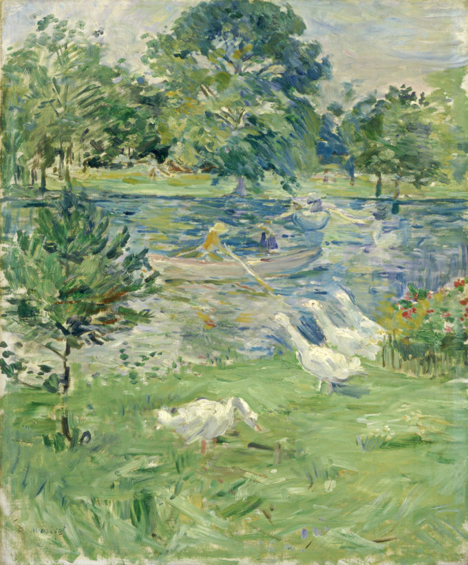Berthe Morisot, Meisje in een boot met ganzen, 1889