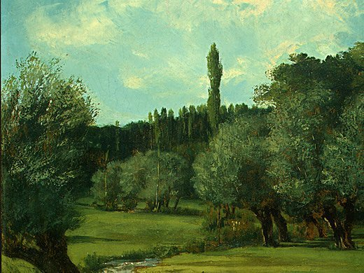 Gustave Courbet, La Bretonniere in the Department of Indre, 1856